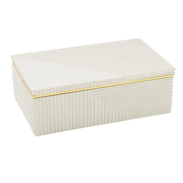 Modern Cream Cement Box For Sale In New York - Image 6 of 6