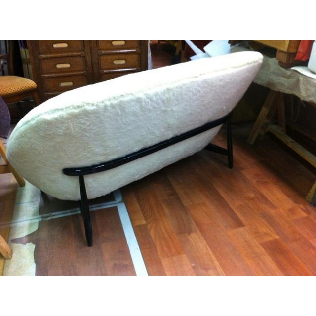 1950s Theo Ruth for Artifort 1950s Couch Newly Reupholstered in Wool Faux Fur For Sale - Image 5 of 7