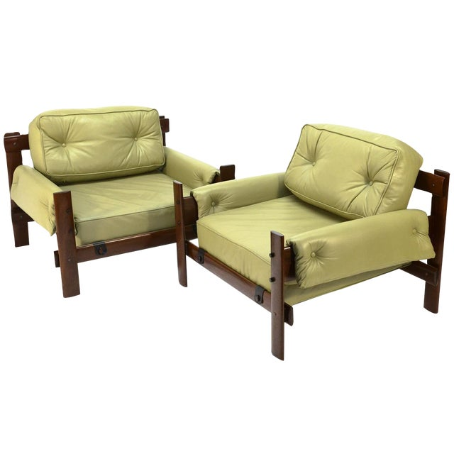 Percival Lafer Brazilian Leather Loungers - A Pair - Image 1 of 5