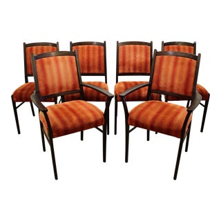 Set of 6 Mid-Century Danish Modern Rosewood Dining Chairs