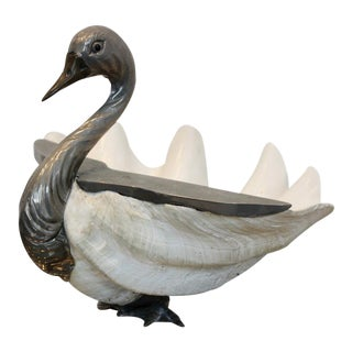 Italian Giant Clamshell Swan by Gabriella Binazzi