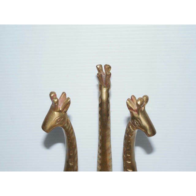 Brass Giraffes Stand With Marble Egg - Image 6 of 6