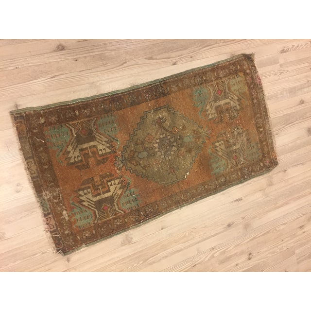 Antique Turkish Handwoven Rug - 1′6″ × 3′ - Image 3 of 6