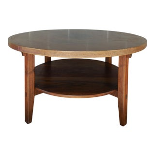 Daniel Mayo Arts & Crafts Style Hammered Copper Top & Teak Coffee Table