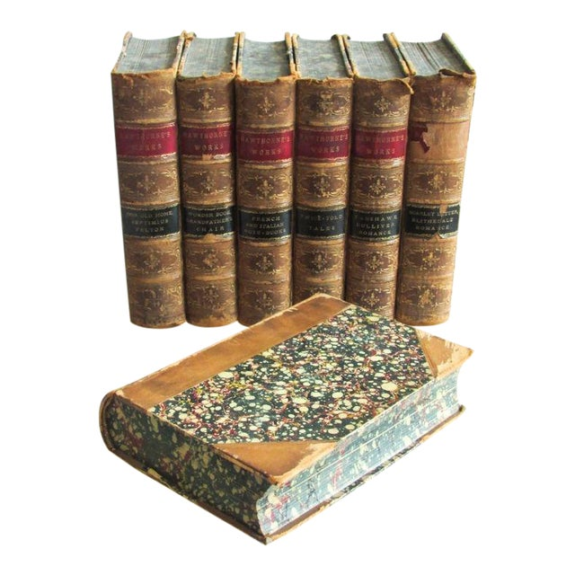 1880 the Works of Nathaniel Hawthorne Published Boston - 7 Volumes For Sale