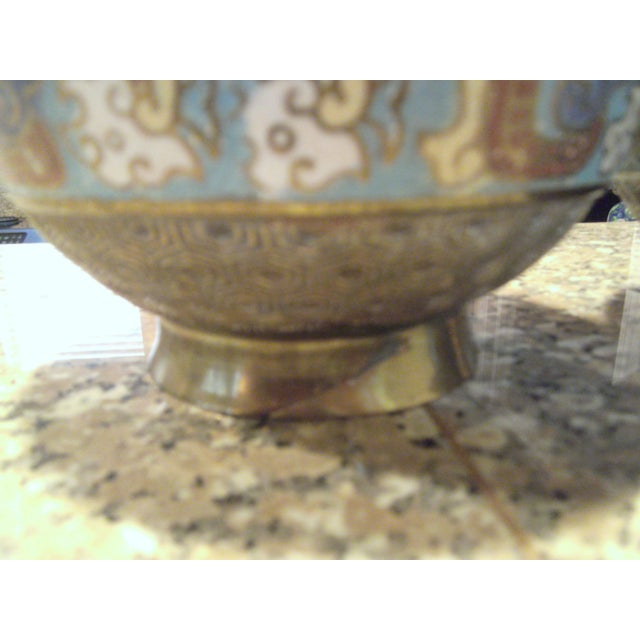 Antique Bronze Champleve Urns - A Pair - Image 10 of 11