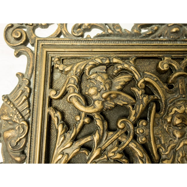 Italian Art Nouveau Bronze Letter Holder For Sale - Image 5 of 7