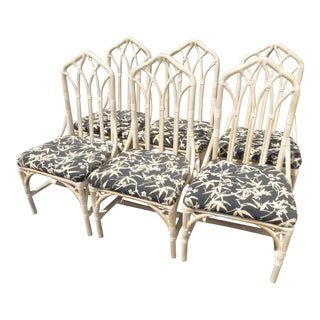 Henry Link Bamboo Dining Room Chairs - Set of 6