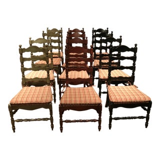 1990s Vintage Rustic Dining Chairs - Set of 12 For Sale