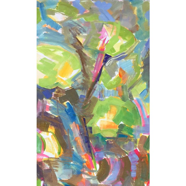 """Waterlilies"" Large Abstract Painting by Trixie Pitts - Image 4 of 6"