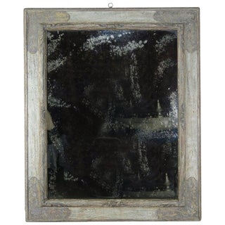 Italian Hand Painted Frame With Lightly Distressed Mirror Inset For Sale