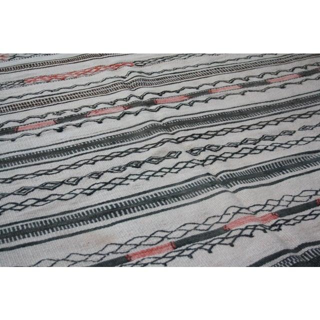 Textile Moroccan Berber Kilim Rug - 10'8'' x 5'10'' For Sale - Image 7 of 8