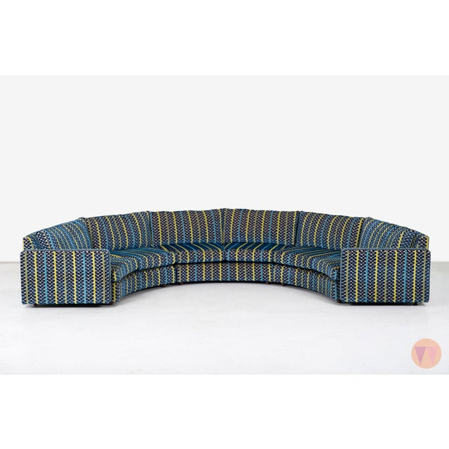 Mid-Century Modern Milo Baughman Curved Sectional Sofa For Sale - Image 3 of 12