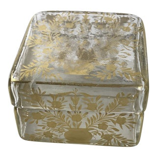 Early 19th Century Antique French Gold Leaf Box For Sale