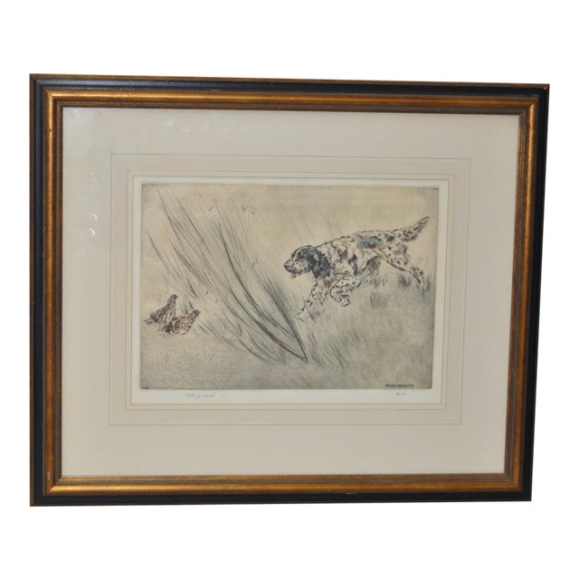 Henry Wilkinson English Sporting Dog Etching - Image 1 of 6