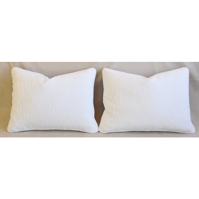 "Cotton French Provençal Quilted Feather/Down Pillows 23"" X 17"" - Pair For Sale - Image 7 of 13"