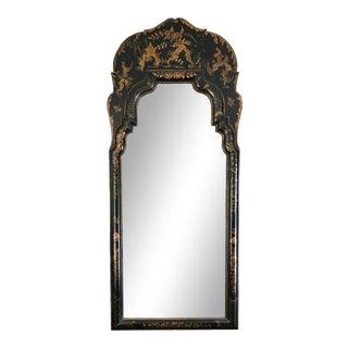 Vintage Italian Black Chinoiserie Mirror For Sale