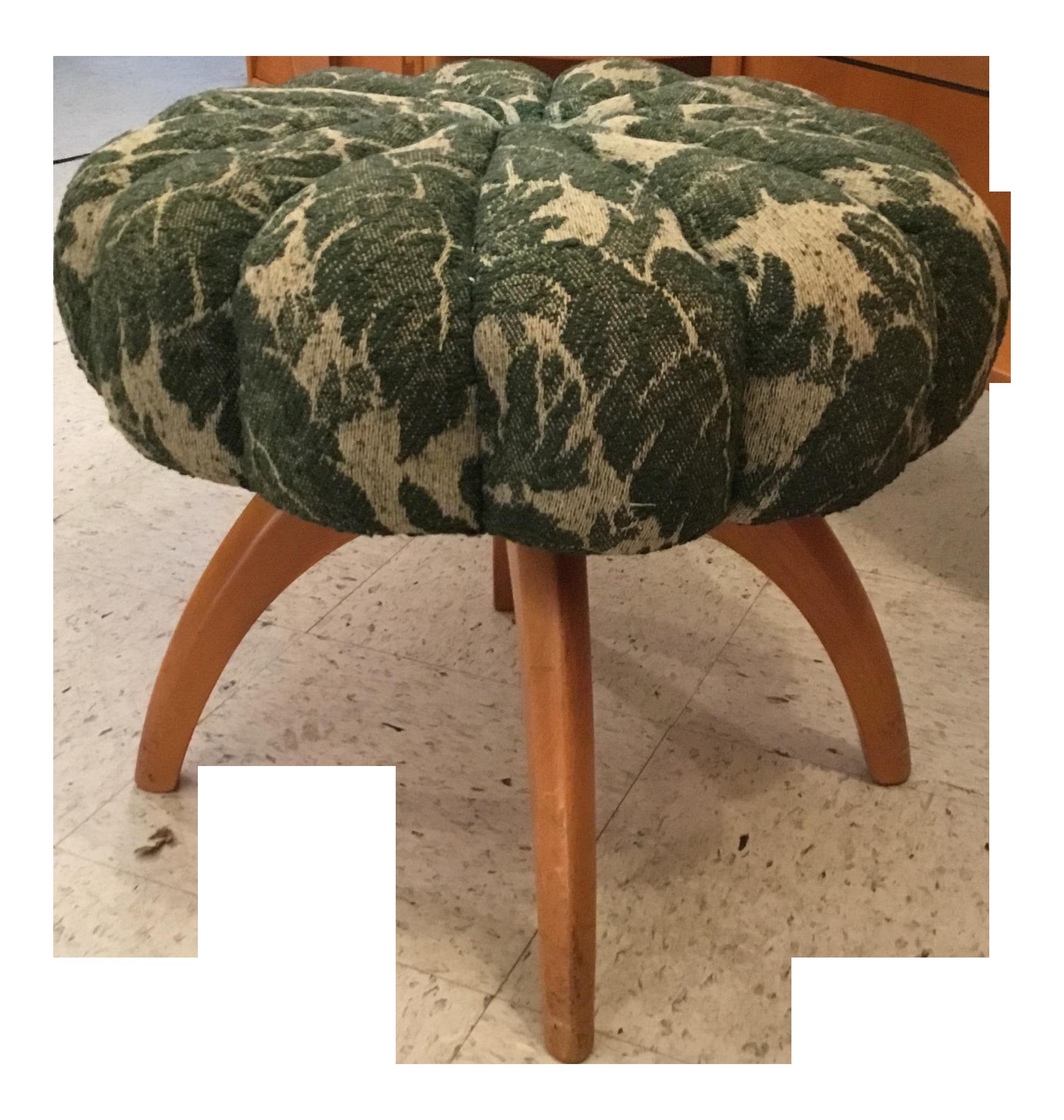 1950s Mid Century Modern Heywood Wakefield Kohinoor Upholstered
