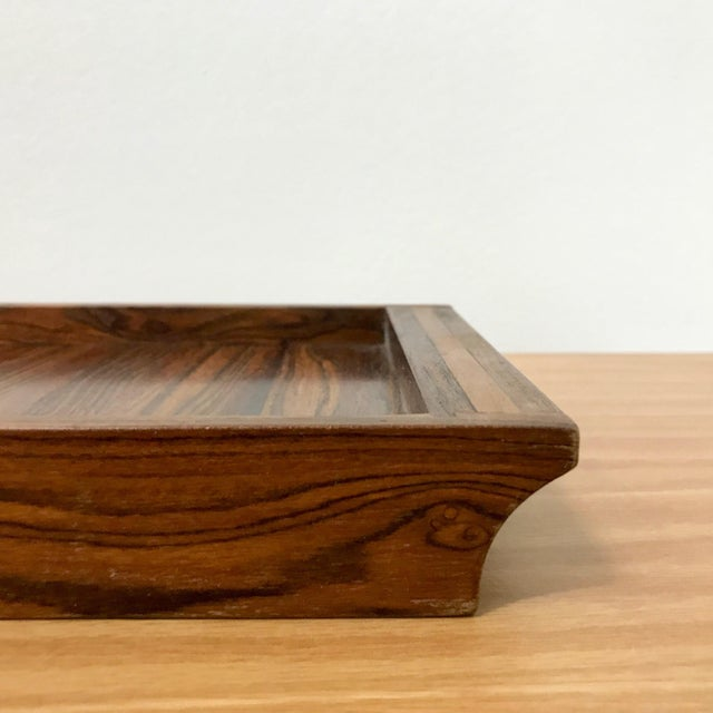 Contemporary Don Shoemaker Senal Wood Tray For Sale - Image 3 of 7