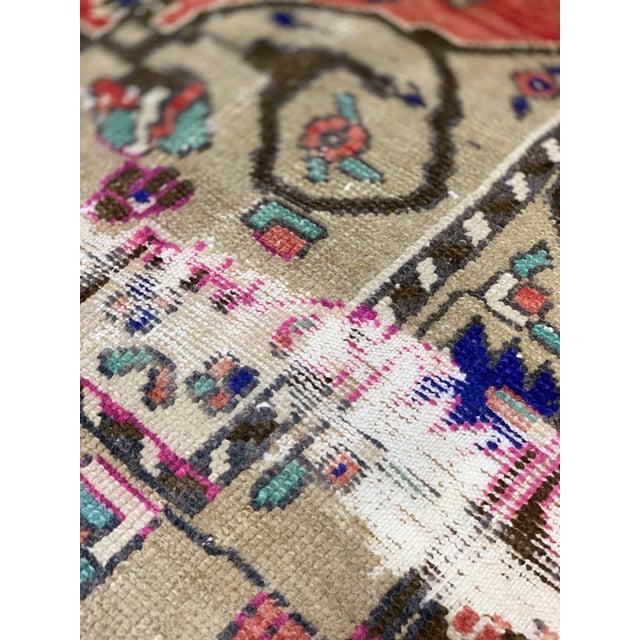 "Textile Vintage Turkish Anatolian 1940's Rug-4'4""x8'3"" For Sale - Image 7 of 13"