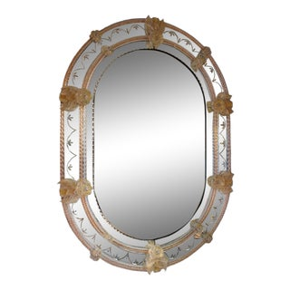 FratelliBarbini - Oval Venetian Mirror For Sale
