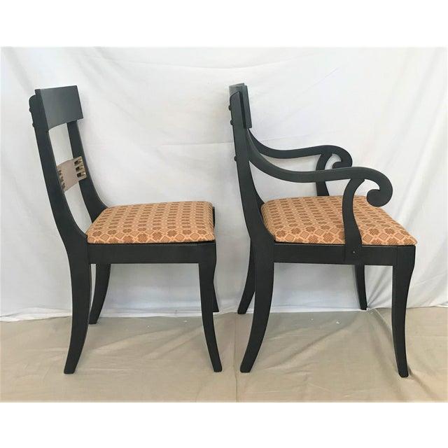 1940s Regency Klismos Parcel Gilt Dining Chairs - Set of 6 For Sale - Image 4 of 7