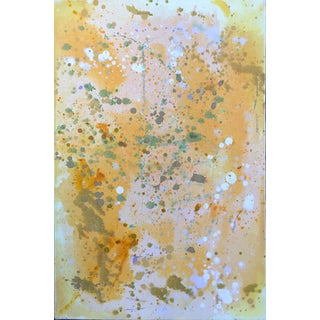 """Life Is Good"" by Trixie Pitts Neutral Abstract Expressionist Oil Painting For Sale"