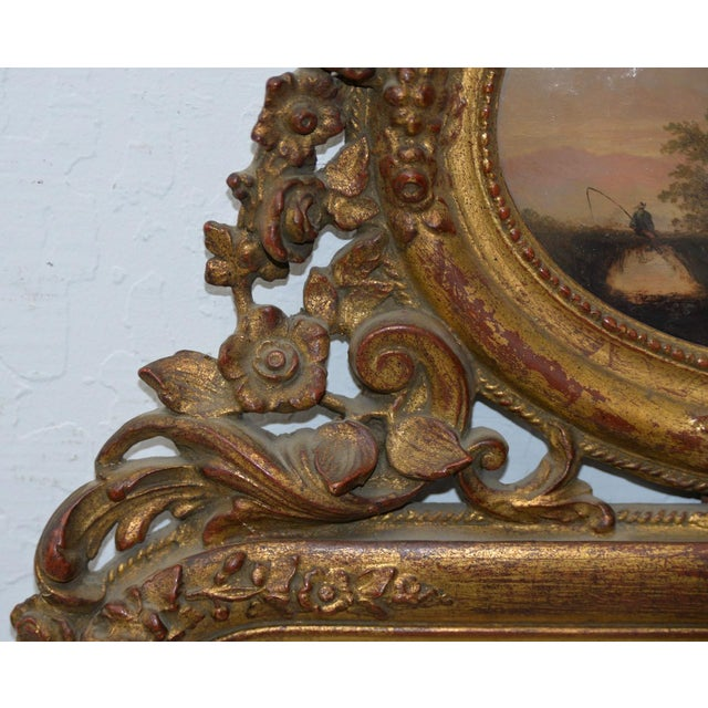 Late 19th Century Early 19th Century Painted & Gilt Frame Mirror For Sale - Image 5 of 9