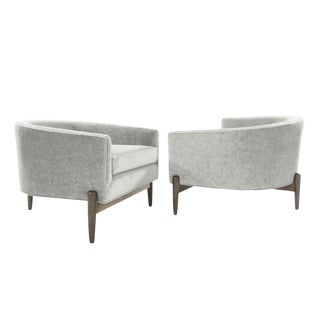 Large Mid-Century Modern Profile Lounge Chairs - a Pair For Sale