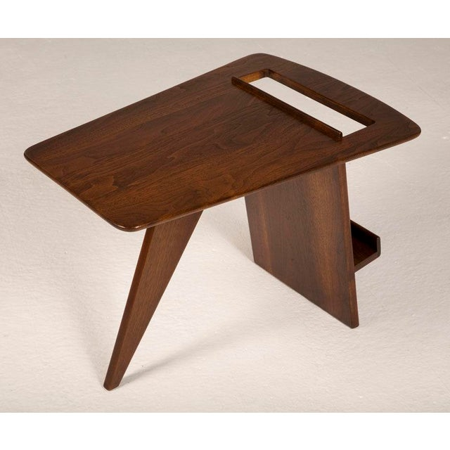Jens Risom Pair of Wedge Top Magazine Tables by Jens Risom For Sale - Image 4 of 5