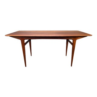 Vintage British Mid Century Modern Solid Teak Dining Table Attributed to Richard Hornby for Fyne Ladye For Sale