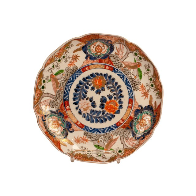 Ceramic 1880s Japanese Imari Porcelain Charger Plate For Sale - Image 7 of 7