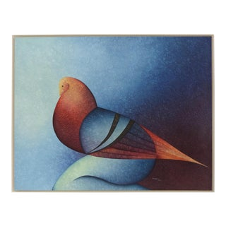 "Original Oil Painting ""Woman Dove 1"" by Dagobhis Dopazo Alonso For Sale"