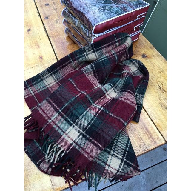 Vintage Faribault Plaid Pak a Robe Wool Blankets - Set of 5 - Image 3 of 8