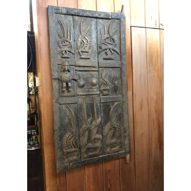 Wood Early 20th Century Antique Tribal Senufo Door For Sale - Image 7 of 7