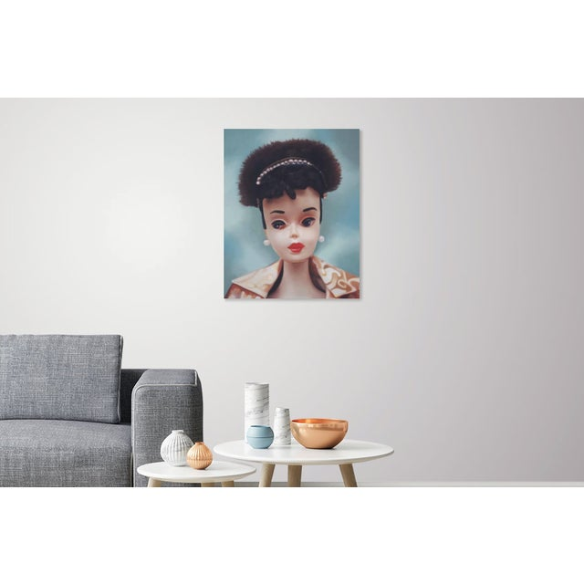 "Canvas ""Evening Splendour"" Barbie Oil Painting For Sale - Image 7 of 11"