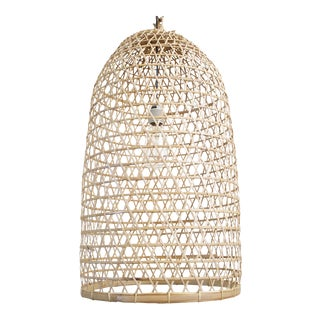 Bamboo Fish Basket Lantern Large