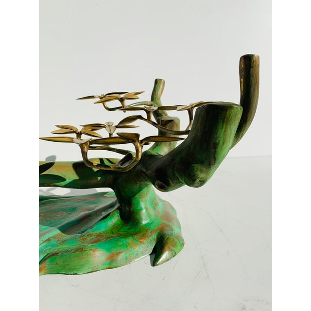 Willy Daro Brass Bonsai Tree Coffee Table Base For Sale - Image 12 of 13