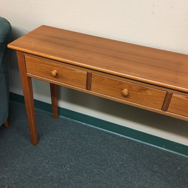 Teak Console Table - Image 3 of 7