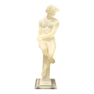 Mid 20th Century Monique Male Silhouette Translucent Resin Sculpture For Sale