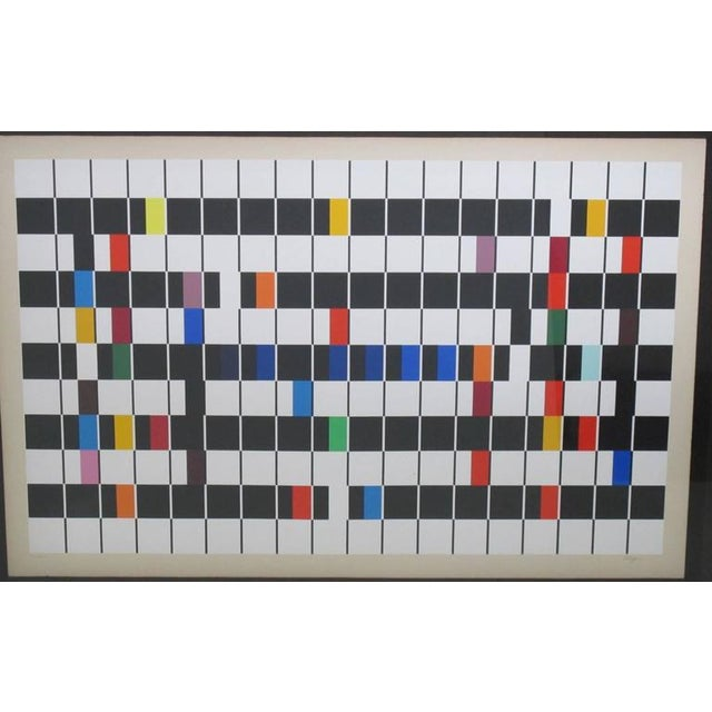 """Original Pop Art artwork serigraph (silkscreen print on paper) by Yaacov Agam titled """"One and Another"""" from same name..."""