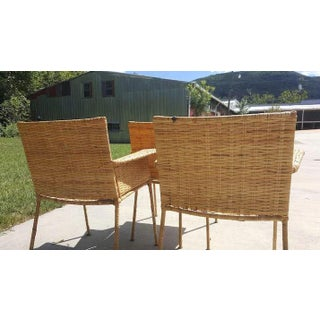 Van Keppel and Green Wicker and Wrought Iron Chairs - Set of 3 Preview