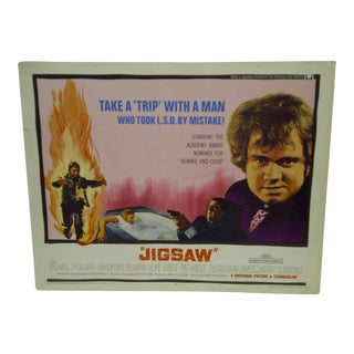 "1968 Vintage ""Jigsaw"" Movie Poster For Sale"