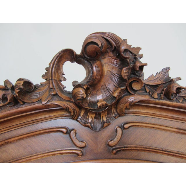 Mirrored Carved Wood Armoire - Image 4 of 10