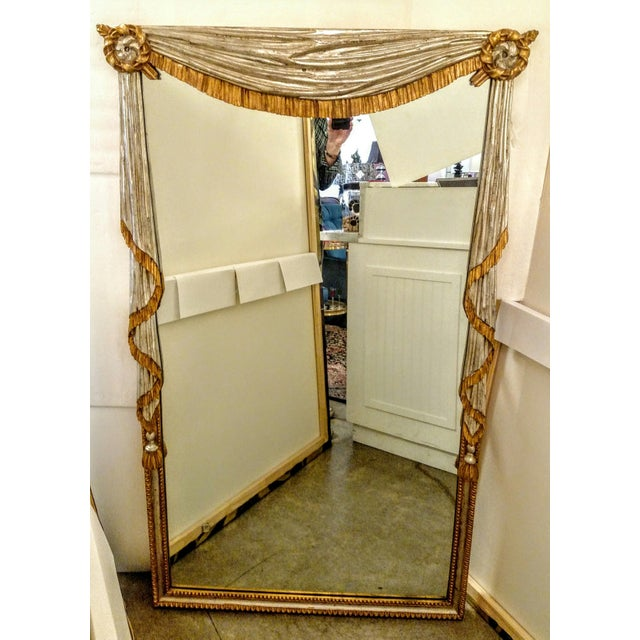Neo-Classical Silver & Gold Gilt Mirror - Image 2 of 8