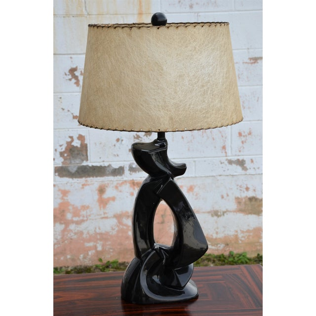 1950s Abstract Ceramic Table Lamp For Sale - Image 13 of 13