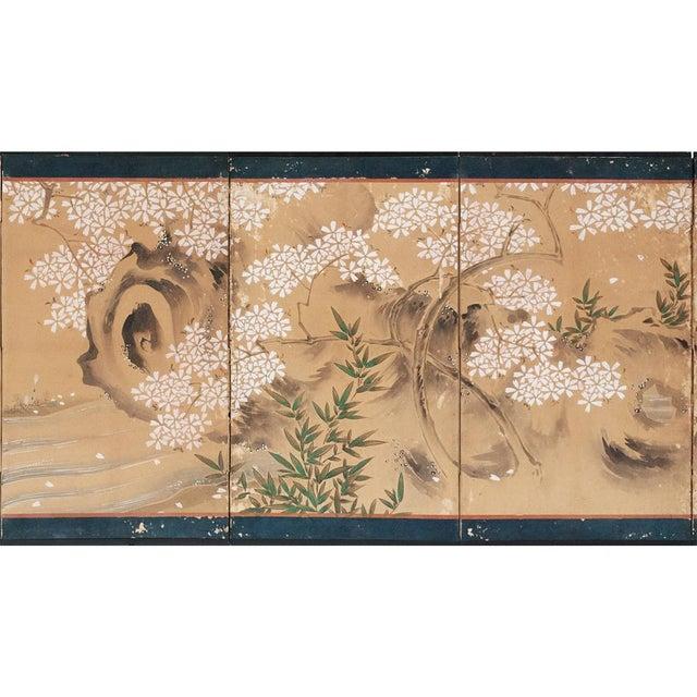 17th-18th C. Japanese Twelve-Panel Byobu Screen For Sale In Dallas - Image 6 of 13