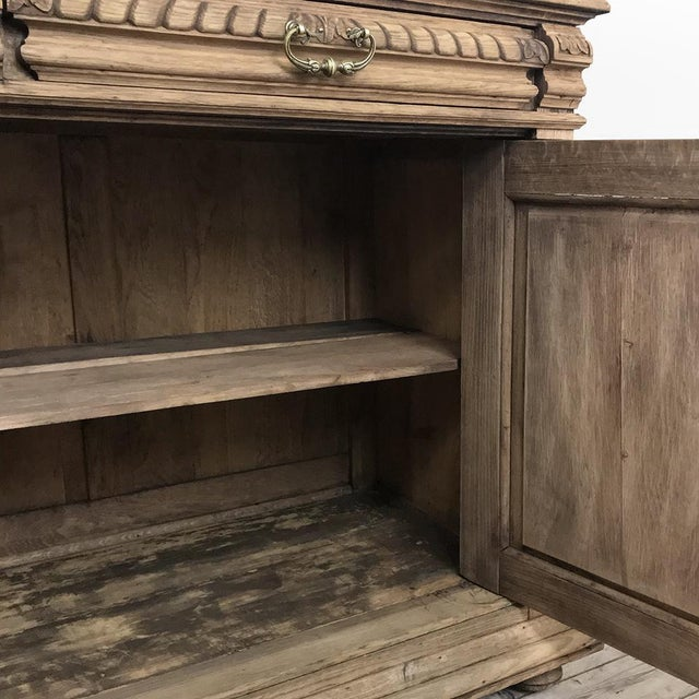 19th Century French Renaissance Stripped Oak Buffet For Sale - Image 11 of 13