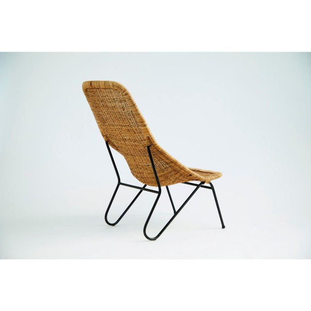 Vintage 1950s Wicker Chair For Sale - Image 4 of 7