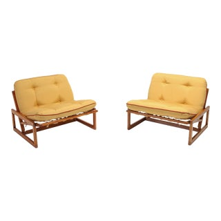 Afra & Tobia Scarpa Pair of 'Carlotta' Lounge Chairs for Cassina For Sale